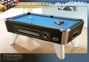 City American Coin-Operated Pool Table