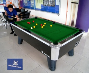 City British Token Op Pool Table with Logo