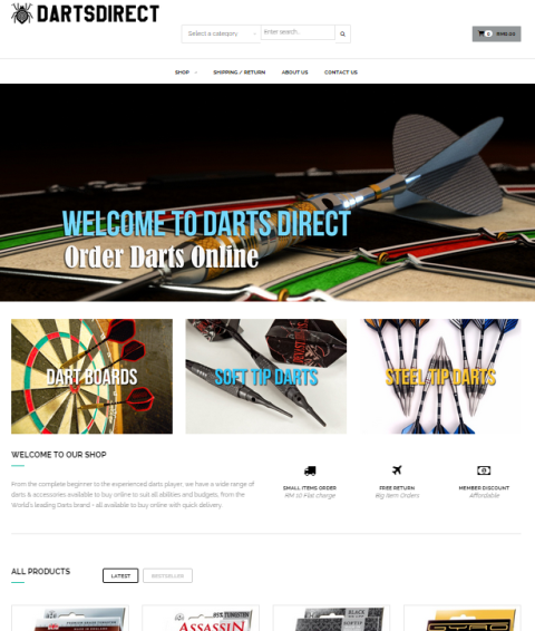 Darts Direct Home Page