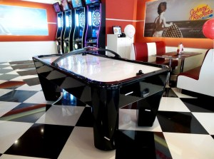 Easten Air Hockey at Johnny Rockets