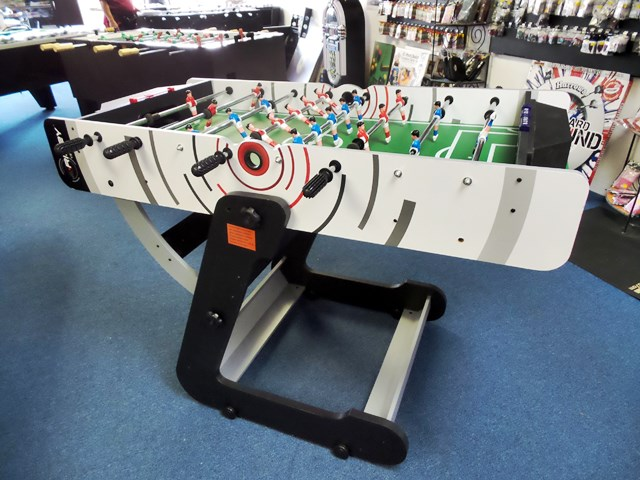 Riley Foldable Foosball Table 4ft in Showroom