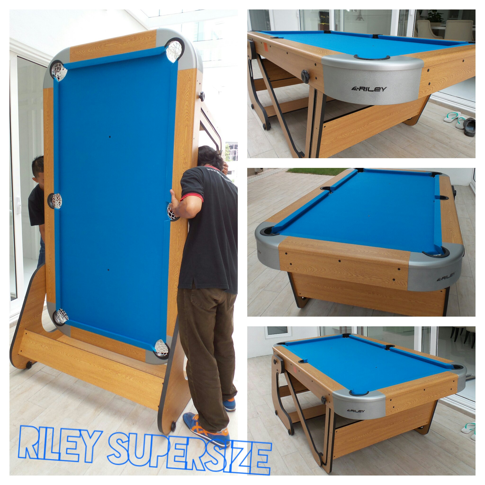 riley supersize foldable pool table malaysia table tennis shop billiards direct malaysia. Black Bedroom Furniture Sets. Home Design Ideas
