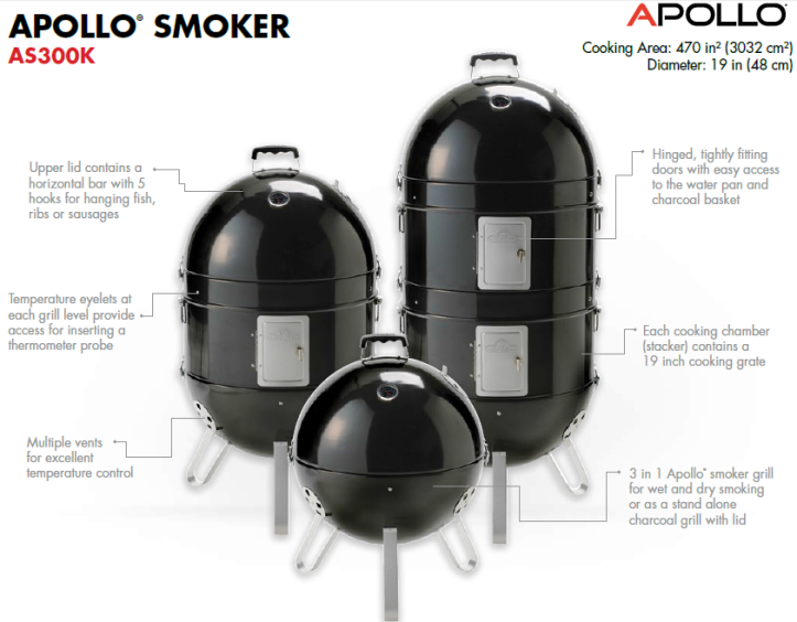 NAPOLEON Apollo AS300K 3-in-1 Smoker Description