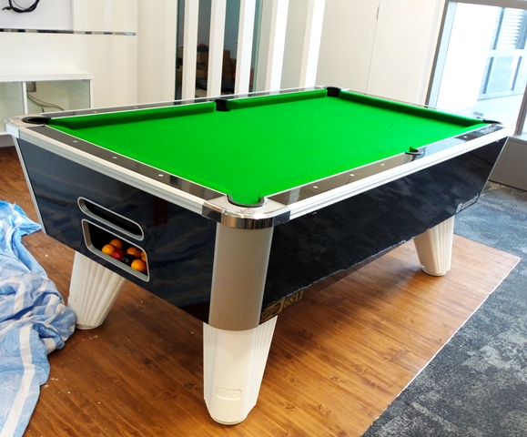 City British Pool Your Choice Of White Or Black Legs Pool Table - British pool table