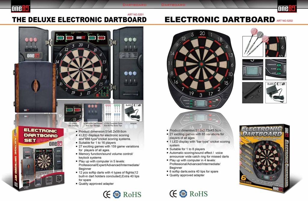 One80 Deluxe & Standard Electronic Dart Boards