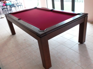 Pranzo 7ft with Burgundy Cloth 2