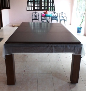 Pranzo 7ft with Burgundy Cloth & Dining Top