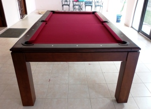 Pranzo 7ft with Burgundy Cloth