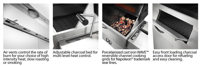Charcoal Pro m605rbcss-mirage-charcoal-grill-features
