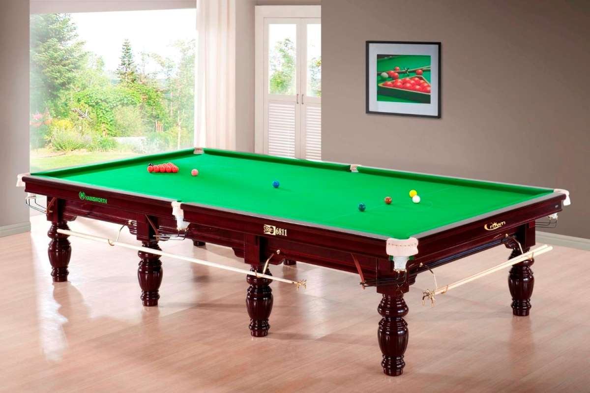 Crown Snooker 12ft Full Size Pool Table Malaysia
