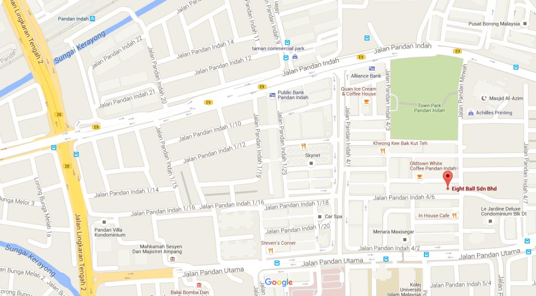 Eight Ball Sdn Bhd Map